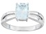 Pre-Owned Blue Aquamarine 14k White Gold Ring .85ct