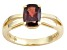 Pre-Owned Red Garnet 14k Yellow Gold Ring 1.68ct.