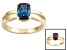 Pre-Owned Lab Created Alexandrite 14k Yellow Gold Ring 1.56ct.
