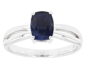 Pre-Owned Blue Sapphire 14k White Gold Ring 1.57ct