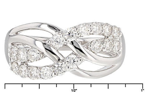 Pre-Owned Moissanite Platineve Ring .90ctw D.E.W