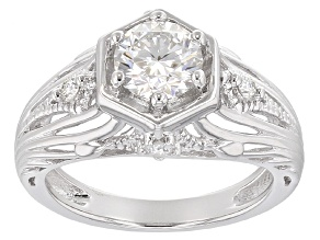 Pre-Owned Moissanite Platineve Ring .92ctw D.E.W