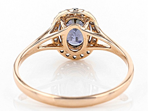 Pre-Owned Purple Spinel 10k Rose Gold Ring .72ctw