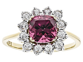 Pre-Owned Grape Color Garnet 10k Yellow Gold Ring 2.28ctw