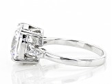 Pre-Owned White Cubic Zirconia Rhodium Over Sterling Silver Ring 7.00ctw