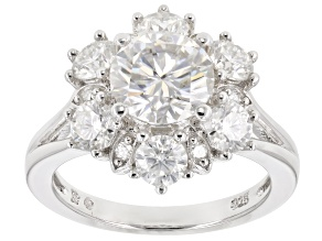 Pre-Owned Moissanite Platineve Ring 3.34ctw D.E.W