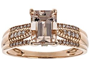 Pre-Owned Pink Morganite 14k Rose Gold Ring 1.62ctw