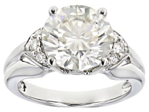 Pre-Owned Moissanite Platineve Ring 3.74ctw D.E.W