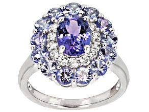 Pre-Owned Blue Tanzanite Sterling Silver Ring 2.76ctw