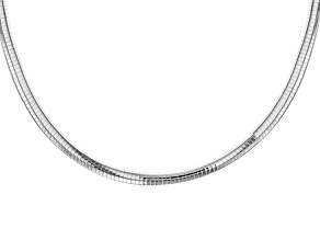 Pre-Owned Sterling Silver Omega Link Chain Necklace 20 inch 8mm