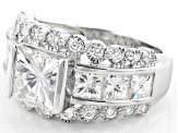 Pre-Owned Moissanite Platineve Ring 5.68ctw D.E.W