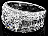 Pre-Owned White Cubic Zirconia Sterling Silver Ring 3.24ctw