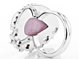 Pre-Owned Pink Kunzite Sterling Silver Ring