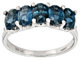 Pre-Owned Blue Chromium Kyanite Sterling Silver 5-Stone Band Ring 2.50ctw