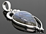 Pre-Owned Multicolor Labradorite Sterling Silver Pendant