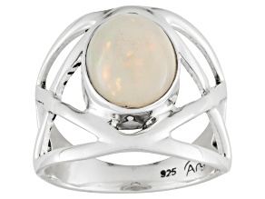 Pre-Owned Ethiopian Opal Sterling Silver Ring 2.00ct