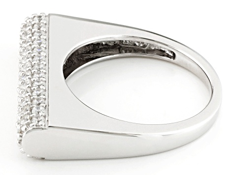 Pre-Owned Cubic Zirconia Silver Ring 1.44ctw (.94ctw DEW)