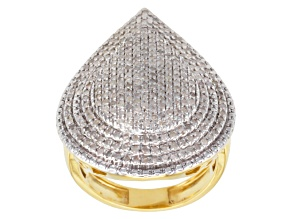 Pre-Owned Diamond 14k Gold Over Silver Ring 1.00ctw