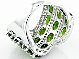 Pre-Owned Green Chrome Diopside Sterling Silver Ring 9.49ctw
