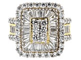 Pre-Owned Cubic Zirconia 18k Yellow Gold Over Silver Ring 5.90ctw (3.06ctw DEW)