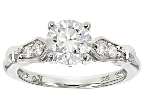 Pre-Owned Moissanite Platineve Ring 1.36ctw D.E.W