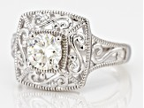 Pre-Owned Moissanite Platineve Ring 1.00ctw D.E.W