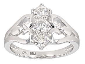 Pre-Owned Moissanite Platineve Ring .69ctw D.E.W