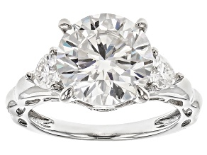 Pre-Owned Moissanite Platineve Ring 4.74ctw D.E.W