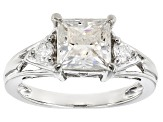 Pre-Owned Moissanite Platineve Ring 2.02ctw D.E.W