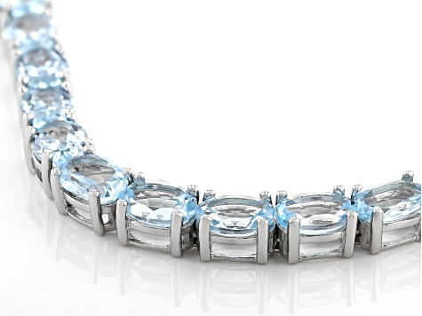 Pre-Owned Blue Topaz Sterling Silver Bracelet 19.40ctw
