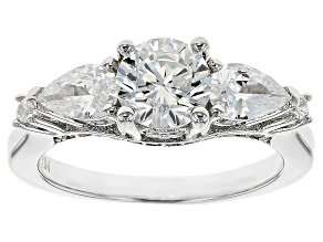 Pre-Owned Cubic Zirconia Silver Ring 2.84ctw (2.01ctw DEW)