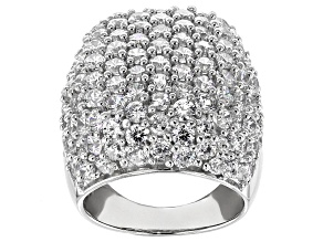 Pre-Owned Cubic Zirconia Silver Ring 14.90ctw (7.44ctw DEW)