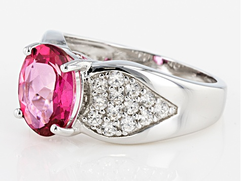 Pre-Owned Pink Danburite Sterling Silver Ring 4.17ctw