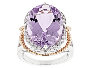 Pre-Owned Purple Amethyst 18k Rose Gold Over Silver Two-Tone Ring 9.73ctw