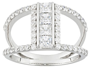 Pre-Owned Cubic Zirconia Silver Ring 1.06ctw (.62ctw DEW)