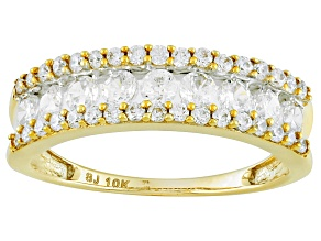 Pre-Owned Cubic Zirconia 10k Yellow Gold Ring 1.78ctw (.76ctw DEW)
