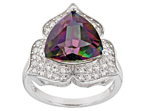 Pre-Owned Multi Color Mystic Topaz® Sterling Silver Ring 7.95ctw