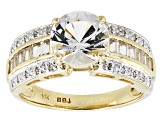 Pre-Owned White Danburite 10k Yellow Gold Ring 2.36ctw