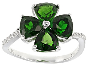 Pre-Owned Green Chrome Diopside Silver Ring 2.91ctw