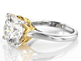 Pre-Owned Moissanite Fire® 5.37ctw DEW Platineve™ And 14k Yellow Gold Platineve Ring