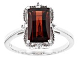Pre-Owned Red Garnet Sterling Silver Ring 2.44ctw