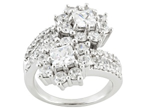 Pre-Owned Cubic Zirconia Silver Ring 6.50ctw (3.90ctw DEW)
