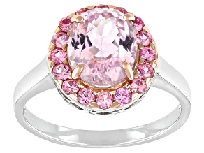 Pre-Owned Pink Kunzite Sterling Silver Ring 3.28ctw