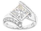 Pre-Owned Moissanite Platineve Ring 3.24ctw D.E.W