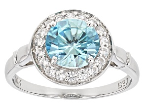 Pre-Owned Blue Zircon 10k White Gold Ring 2.17ctw