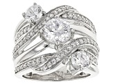 Pre-Owned Cubic Zirconia Silver Ring 4.86ctw (2.80ctw DEW)