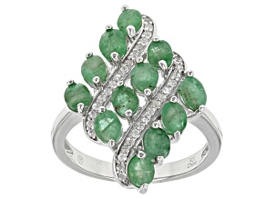 Pre-Owned Green Sakota Emerald Sterling Silver Ring 2.25ctw