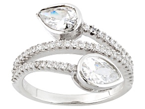 Pre-Owned White Cubic Zirconia Rhodium Over Sterling Silver Ring 2.96ctw