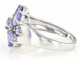 Pre-Owned Blue Tanzanite Sterling Silver Ring 1.88ctw