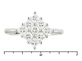 Pre-Owned White Cubic Zirconia Rhodium Over Silver Ring 1.65ctw